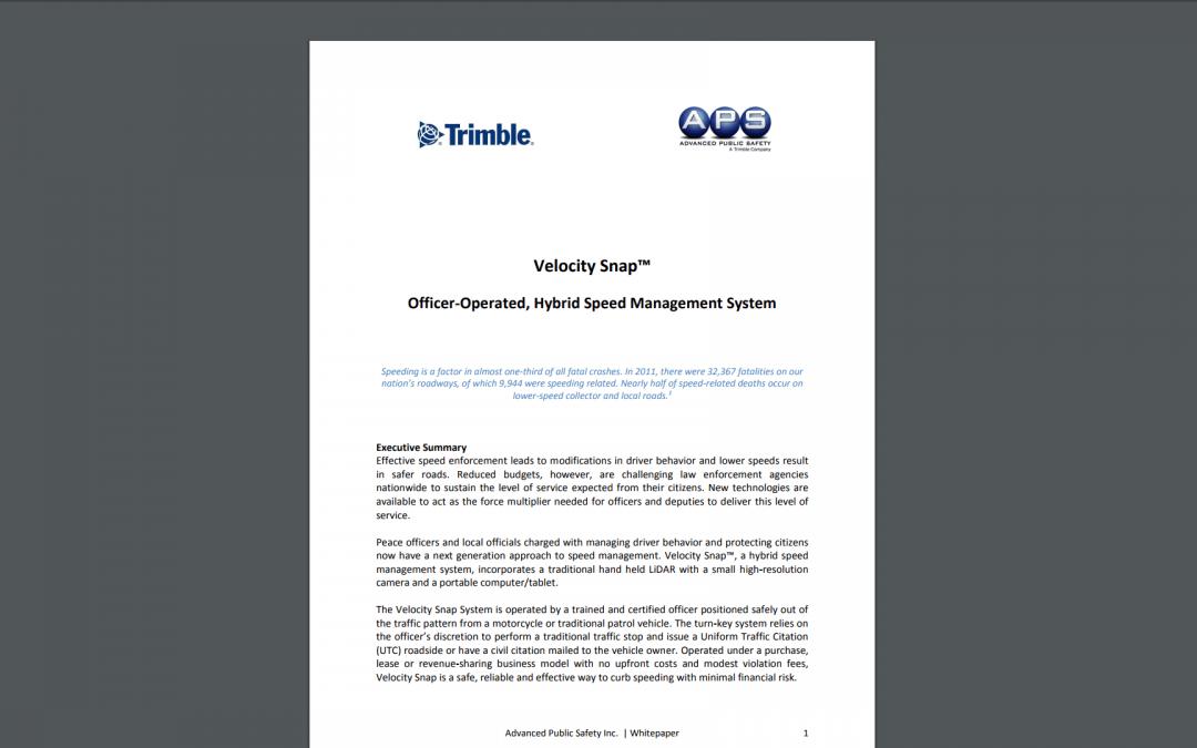 White PaperTrimble Velocity Snap (PDF)