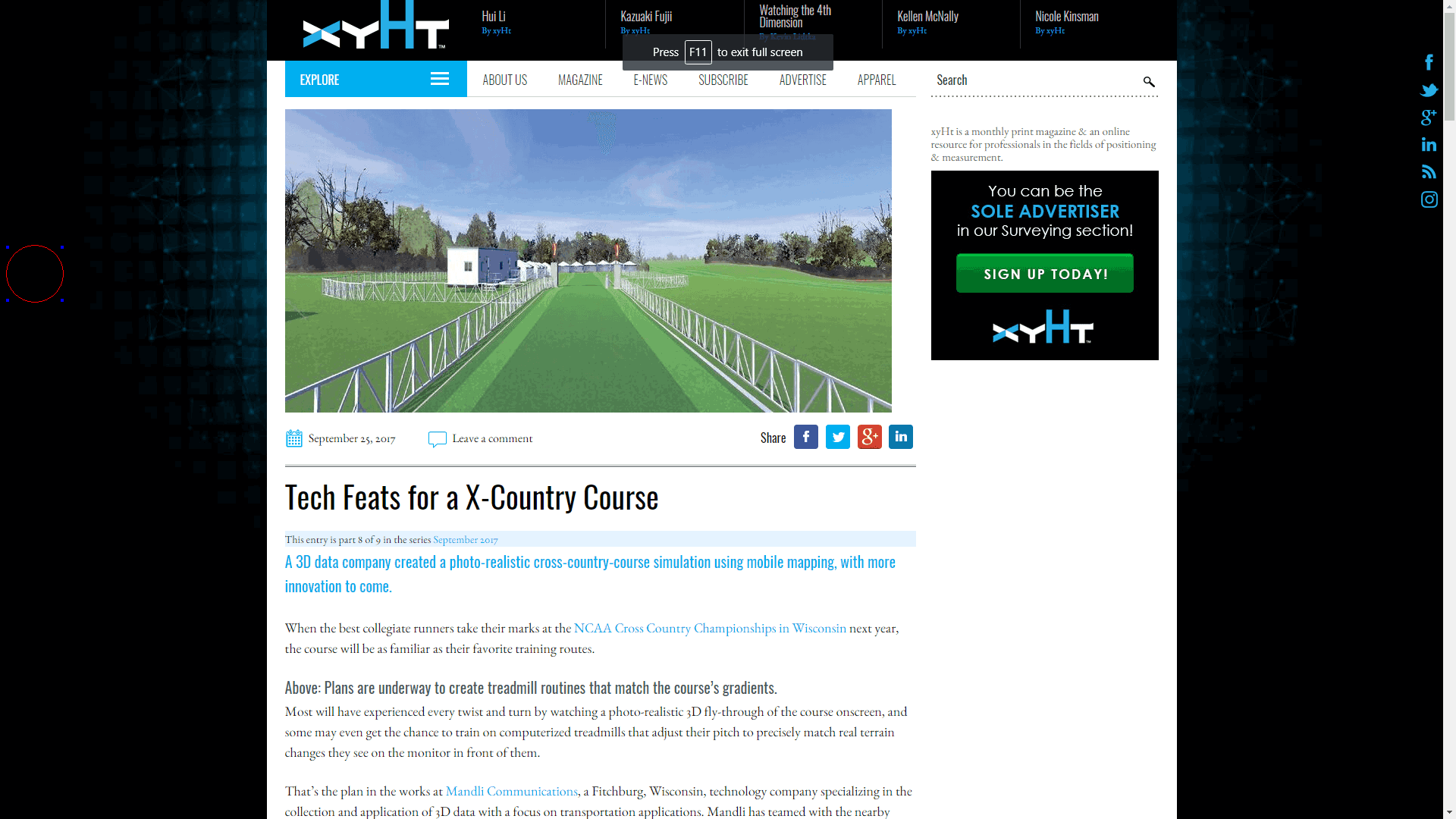 Client Case Study ArticleMapping a Cross Country Course with Mobile Technology
