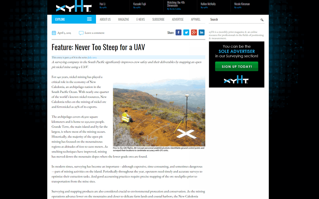 Client Case Study ArticleNever Too Steep for a UAV