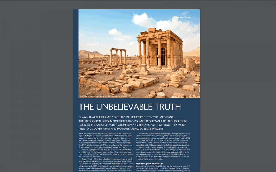 Client Case Study ArticleThe Unbelievable Truth: Mapping Archaeological Sites in Iraq